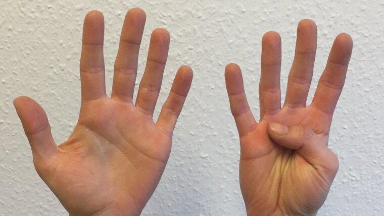 Finger können Zahlen repräsentieren